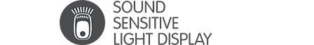 Sound sensitive light display
