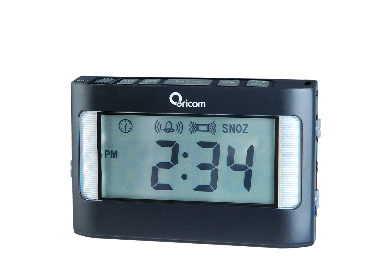 buy an oricom vac500 portable vibrating alarm clock online in australia. Black Bedroom Furniture Sets. Home Design Ideas