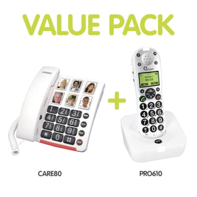 Home Phone Value Pack (Corded + Cordless Phones)
