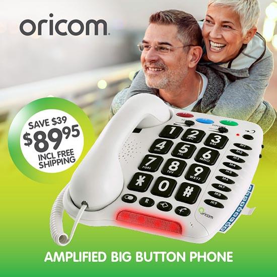 Oricom Care100 Amplified Big Button Phone