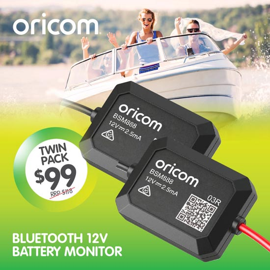 Oricom UHF BSM888 Battery Monitor Twin Pack