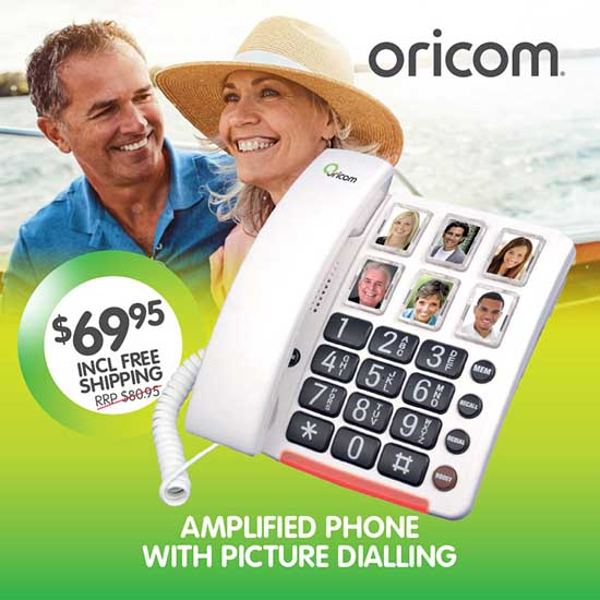 Oricom Care80 Amplified Phone With Picture Dialling