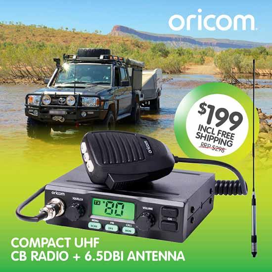 Oricom UHF028ANT Compact CB Radio and Antenna