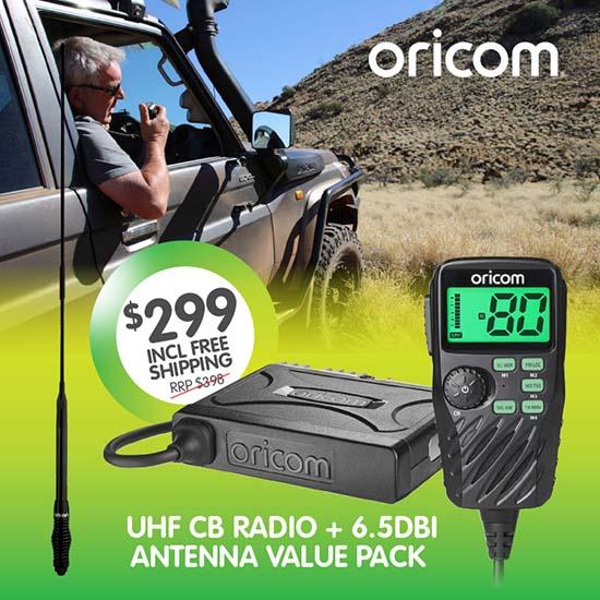 Oricom UHF390VP220 UHF CB Radio & Antenna