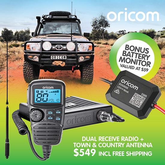 Oricom DTX4200PKB Dual Receive Radio + antenna