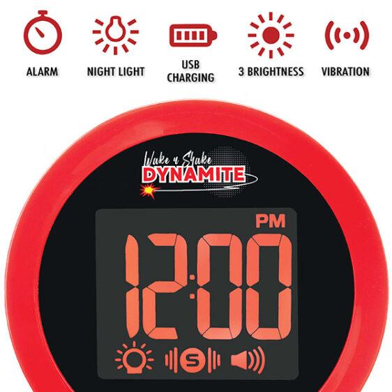 WNS80 Wake 'N' Shake Loud Alarm Clock with Shaker