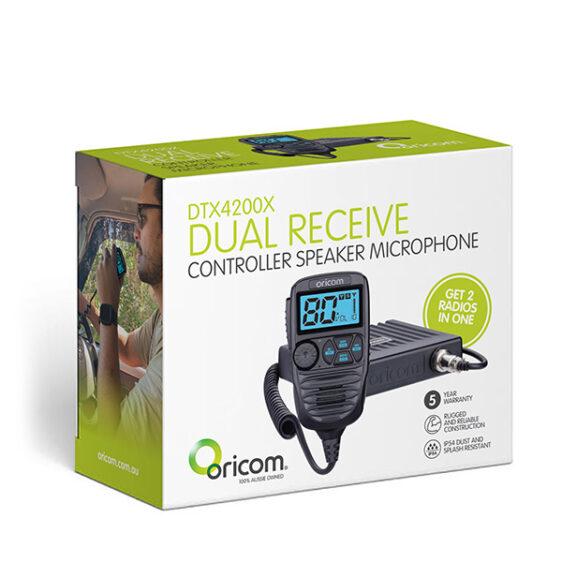 DTX4200X Premium Dual Receive Controller Speaker Mic UHF CB Radio