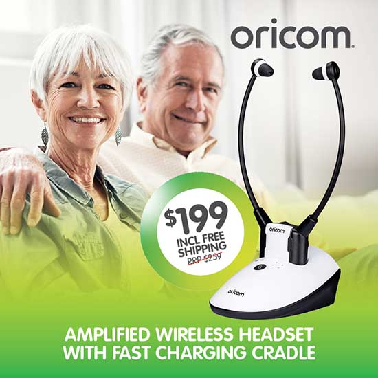 Oricom Amplified Wireless TV Headset TV7400