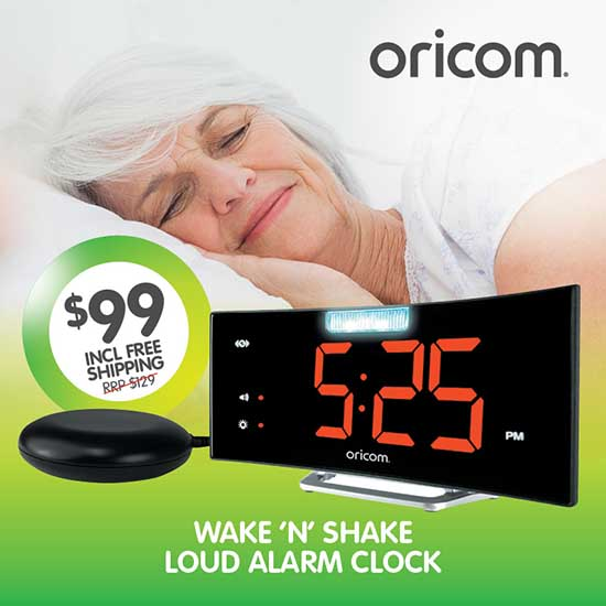Oricom WNS100 Loud Alarm with Jumbo Display
