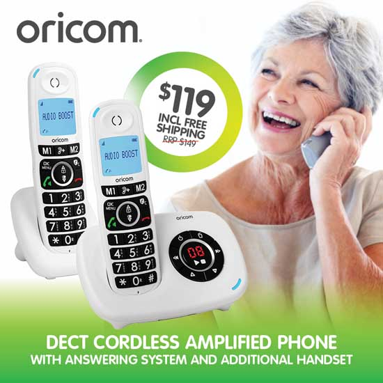 Oricom Care820-2 Amplified Cordless Phone Pack