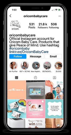 Oricom Baby Instagram