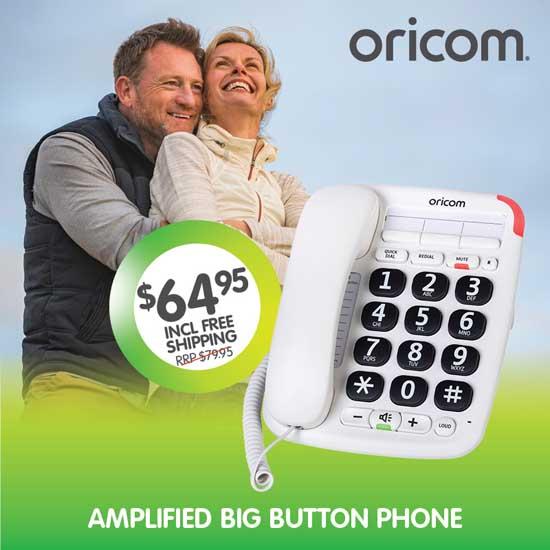 Oricom Care95 Amplified Big Button Phone
