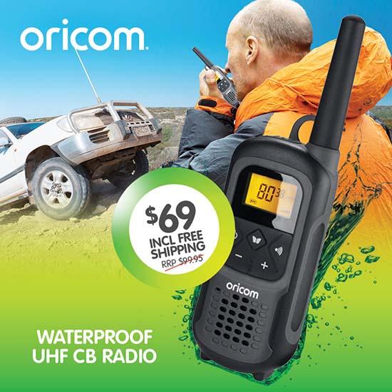 Oricom UHF2500-1GR Waterproof CB Radio